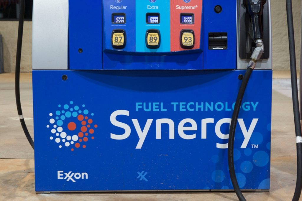exxon synergy dispenser printed graphic