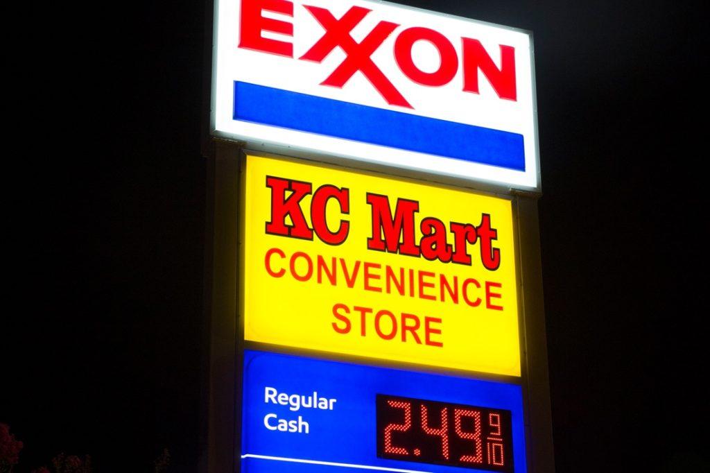 exxon led price sign