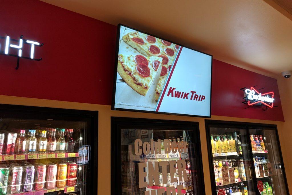 kwiktrip pizza screen digital signage