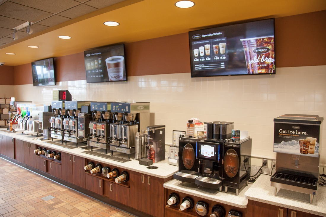 kwiktrip 3 coffee screens digital signage