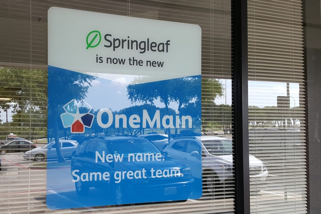 onemain financial window graphic
