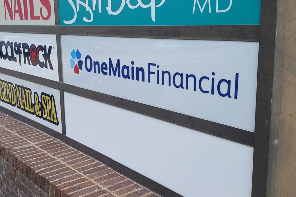 onemain financial tenant sign