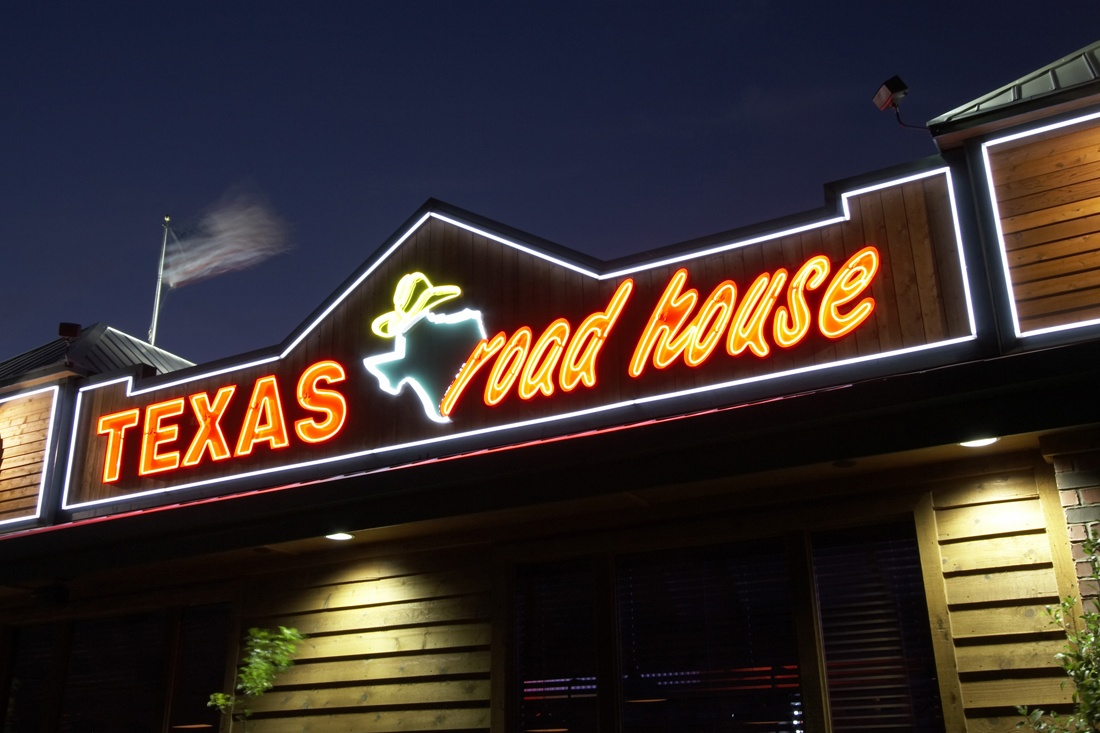 texas roadhouse neon open face channel letters