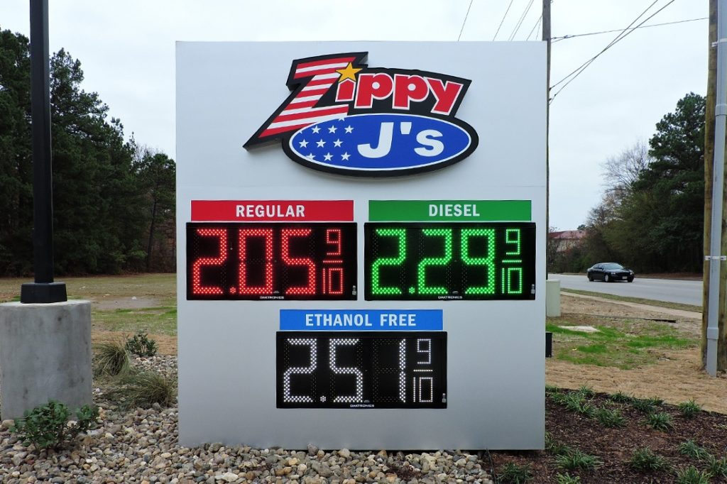Zippy J's LED Price Sign