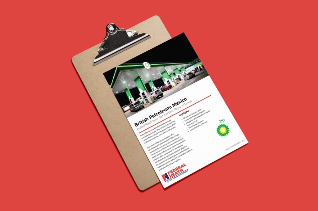 british petroleum mexico case study on clipboard with red background