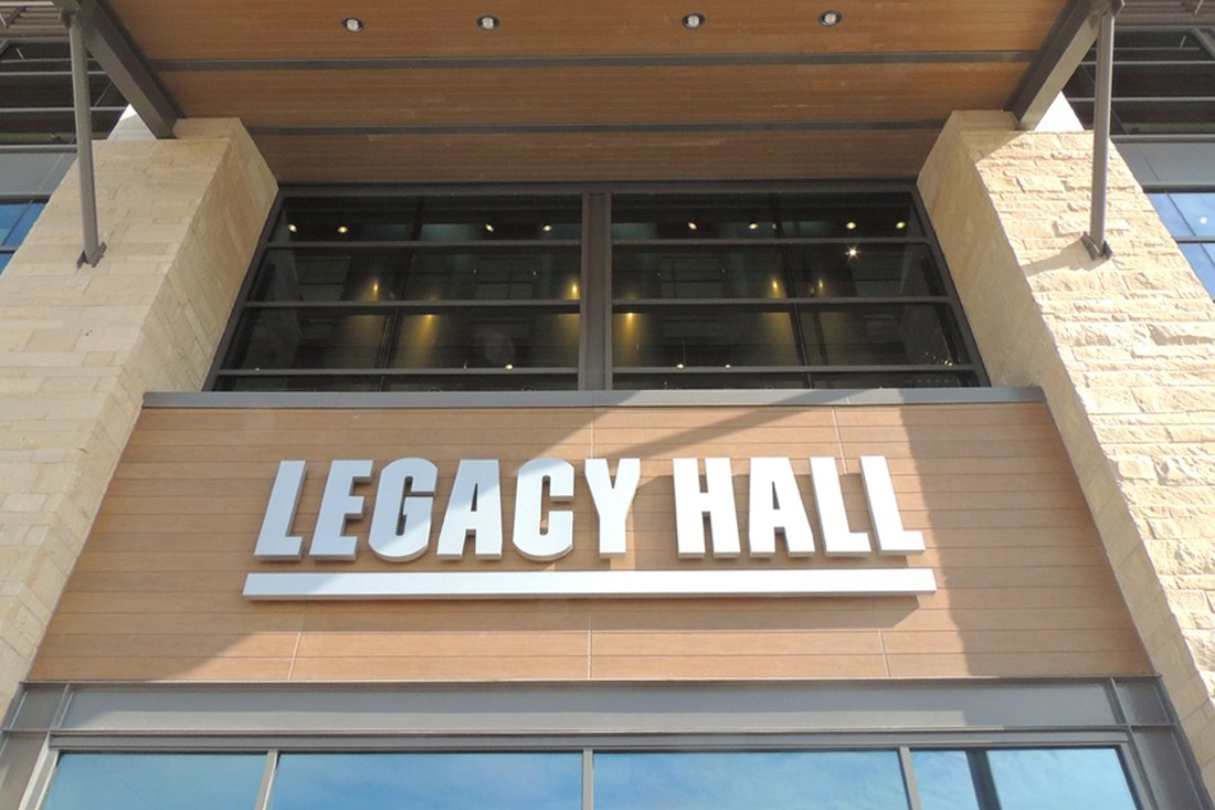 Legacy Hall Channel Letters