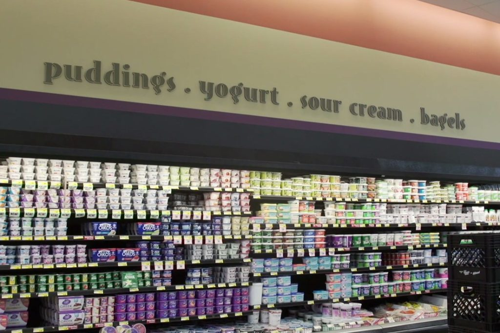 piggly wiggly puddings interior printed graphic