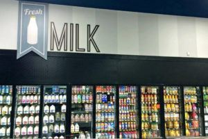 piggly wiggly milk interior printed graphics
