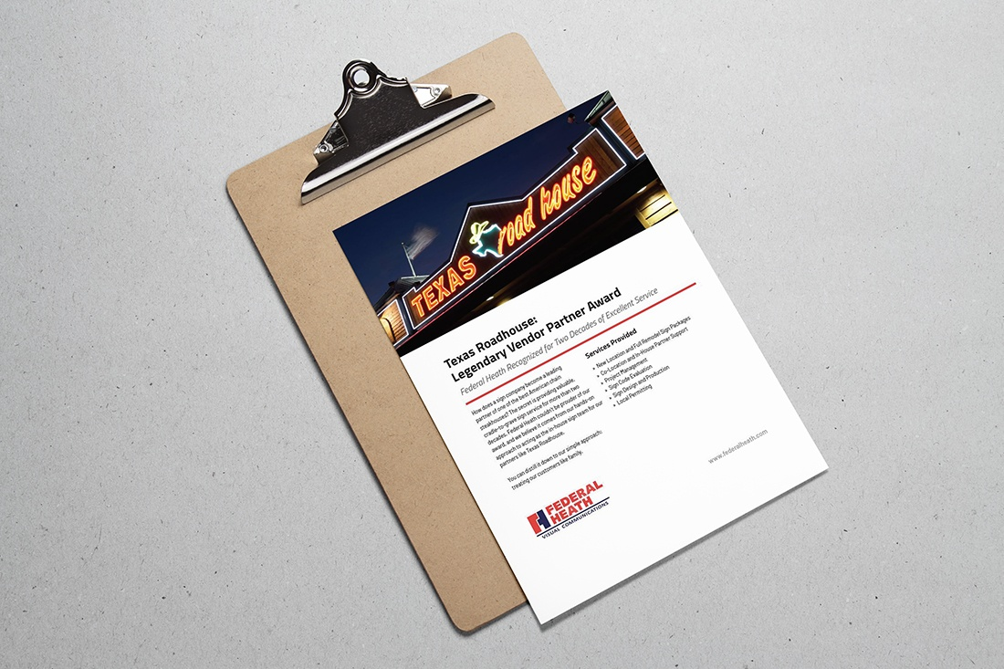 texas roadhouse case study on clipboard