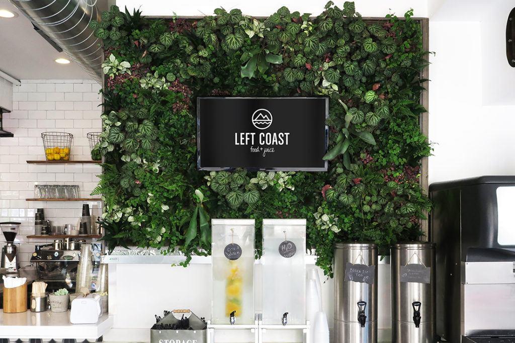left coast food and juice digital signage