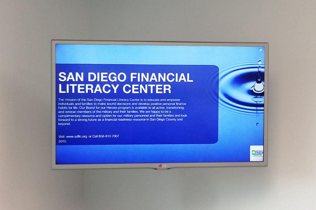 county of san diego financial literacy center digital signage