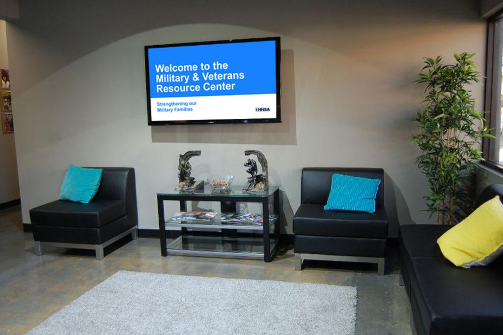 county of san diego military resource center digital signage