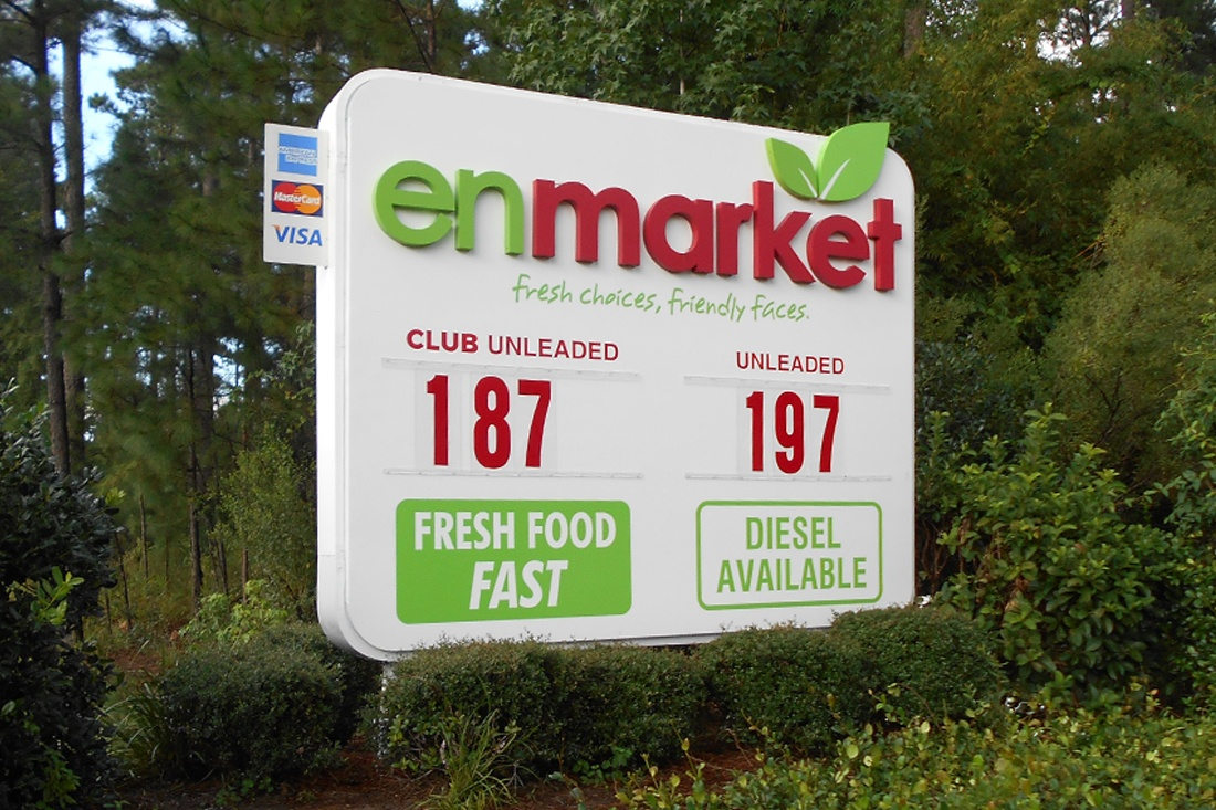 Enmarket Price Sign