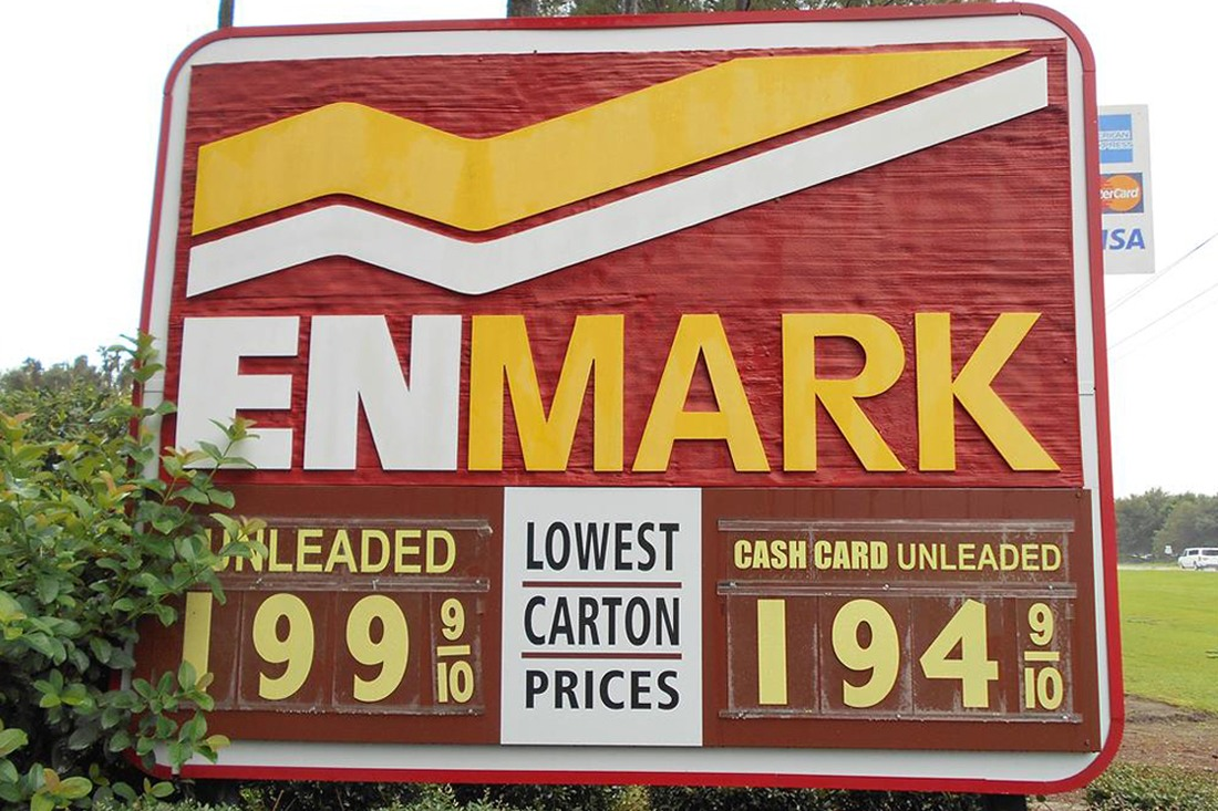 old Enmarket Price Sign