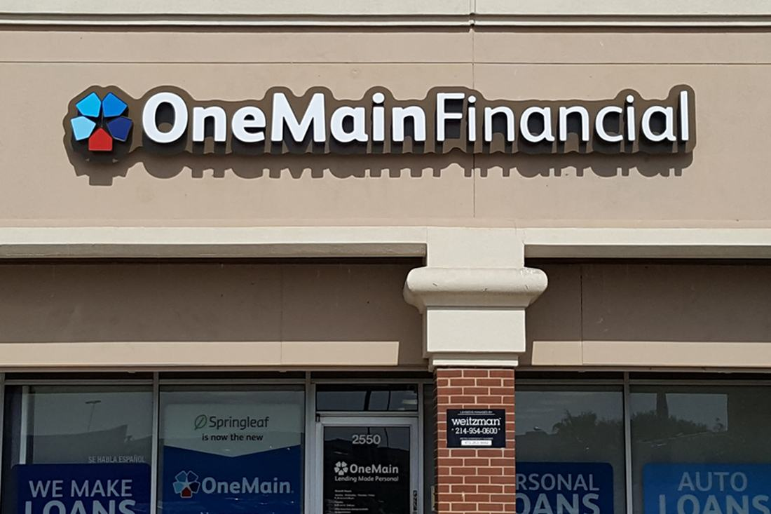 onemain financial daytime channel letters