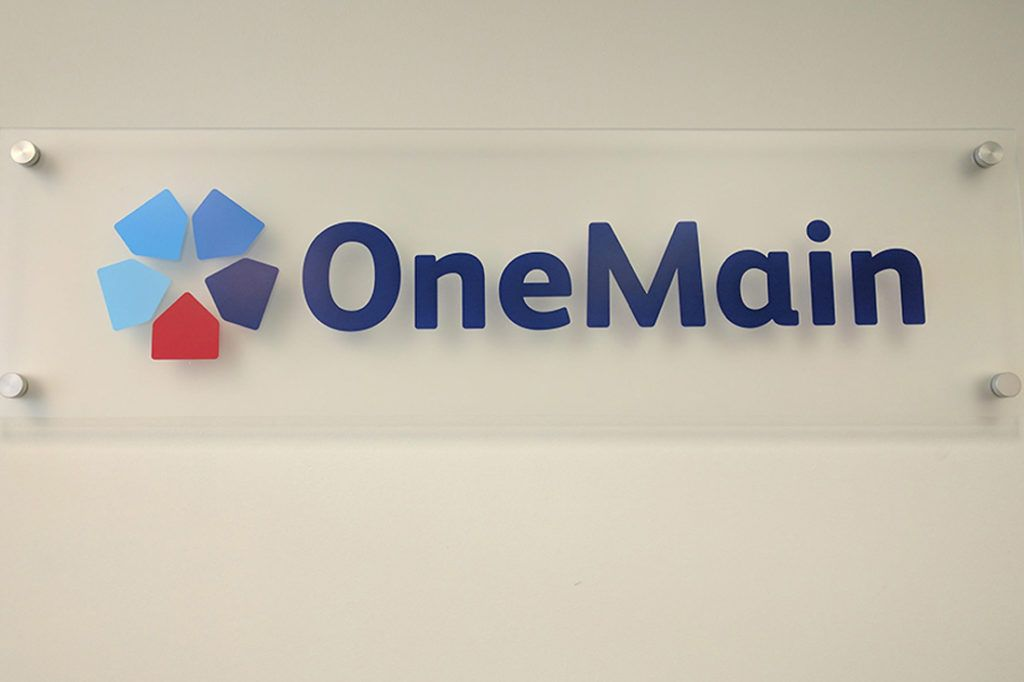 onemain financial interior sign