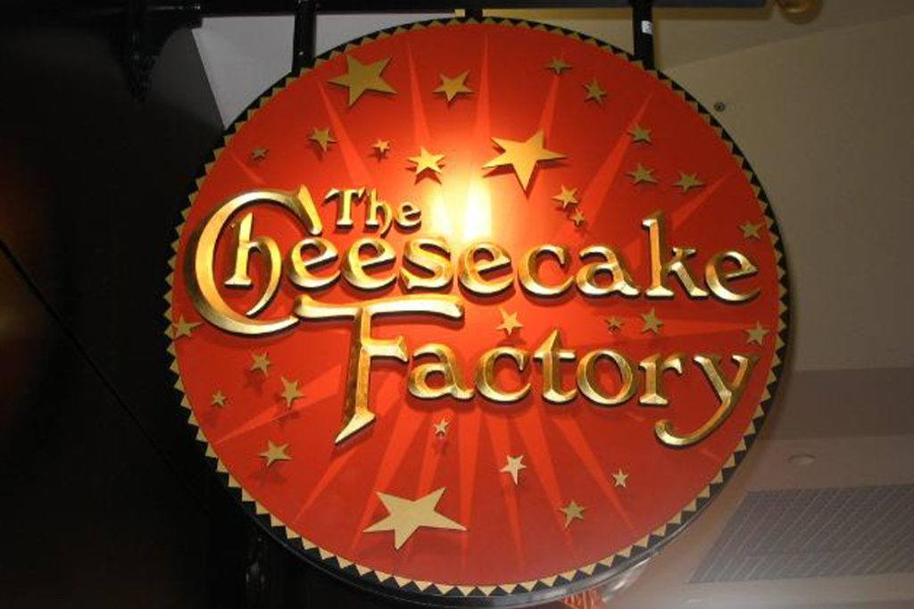 Cheesecake Factory circular sign