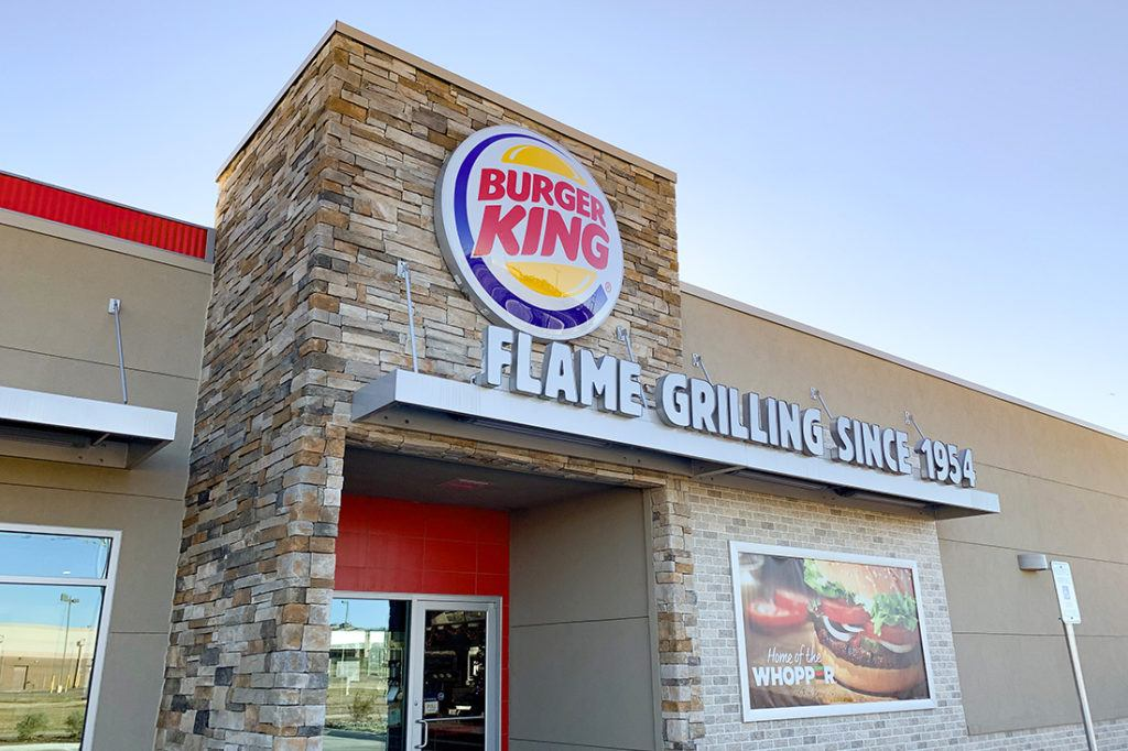 burger king channel letters