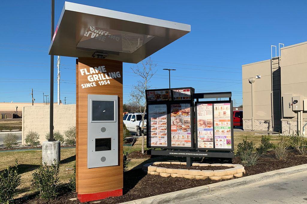 burger king drive thru signage
