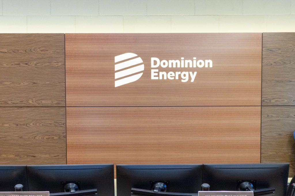 dominion energy interior signage