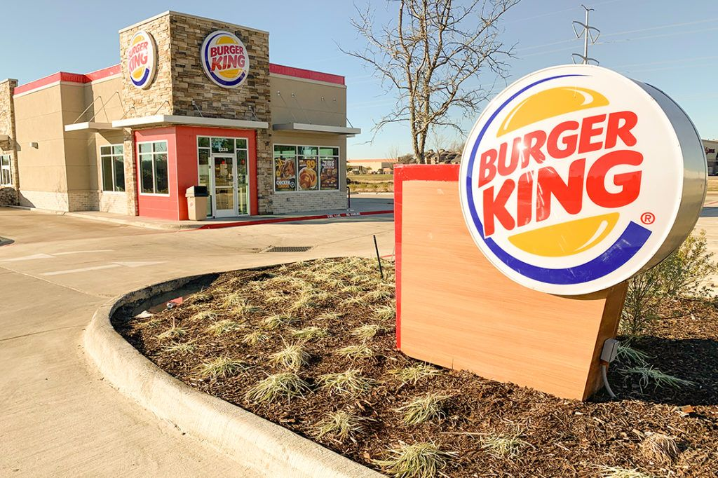 burger king monument and building signage