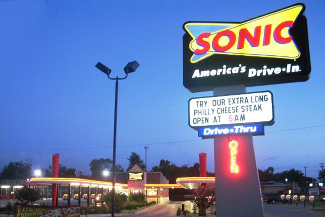 sonic exterior signage