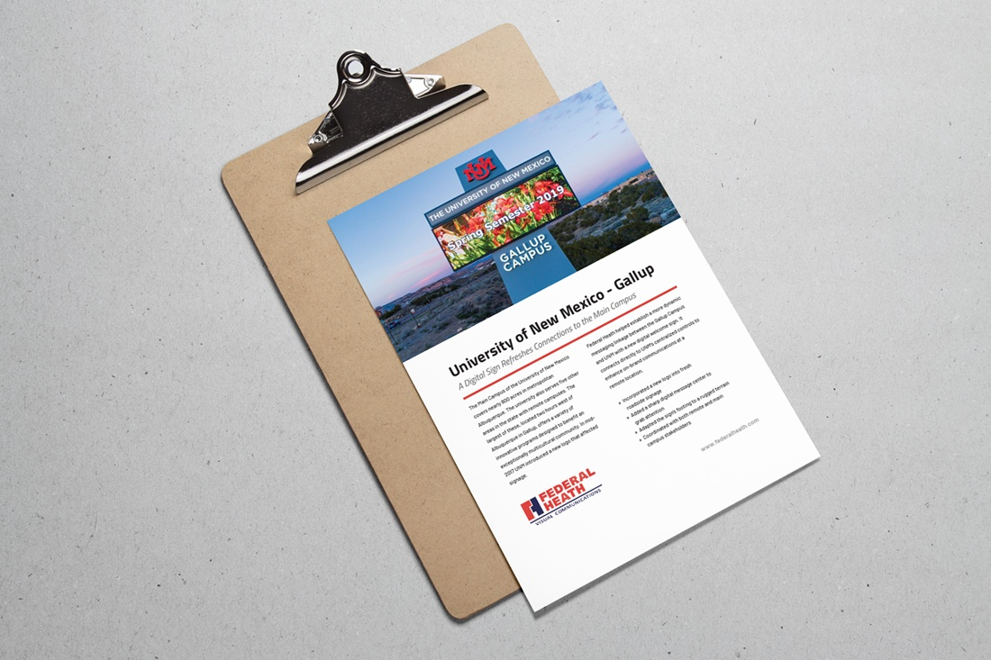 university of new mexico case study on clipboard