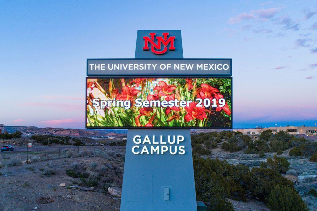 university of new mexico digital signage