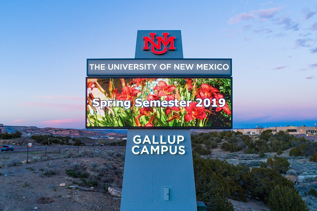 university of new mexico digital signage