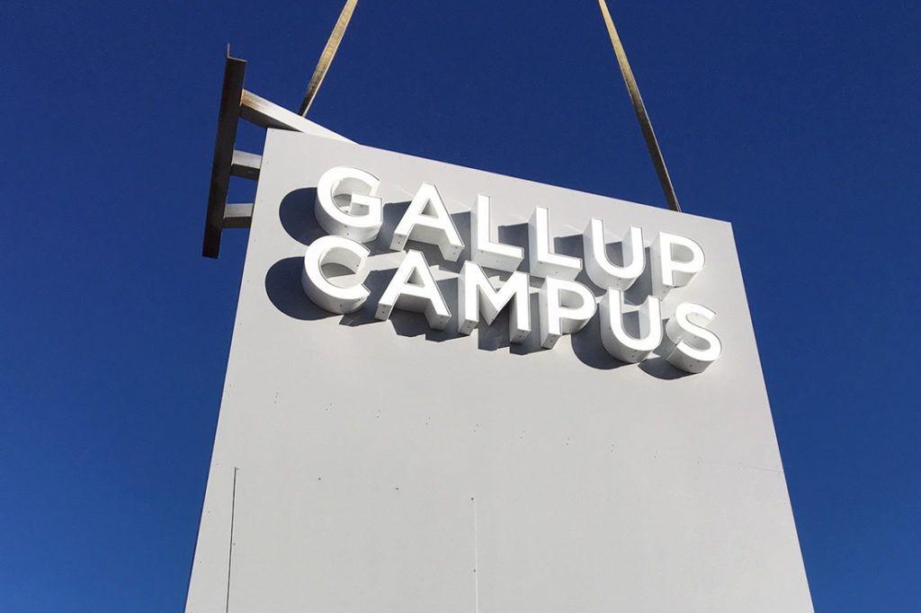 installation of university of new mexico digital signage