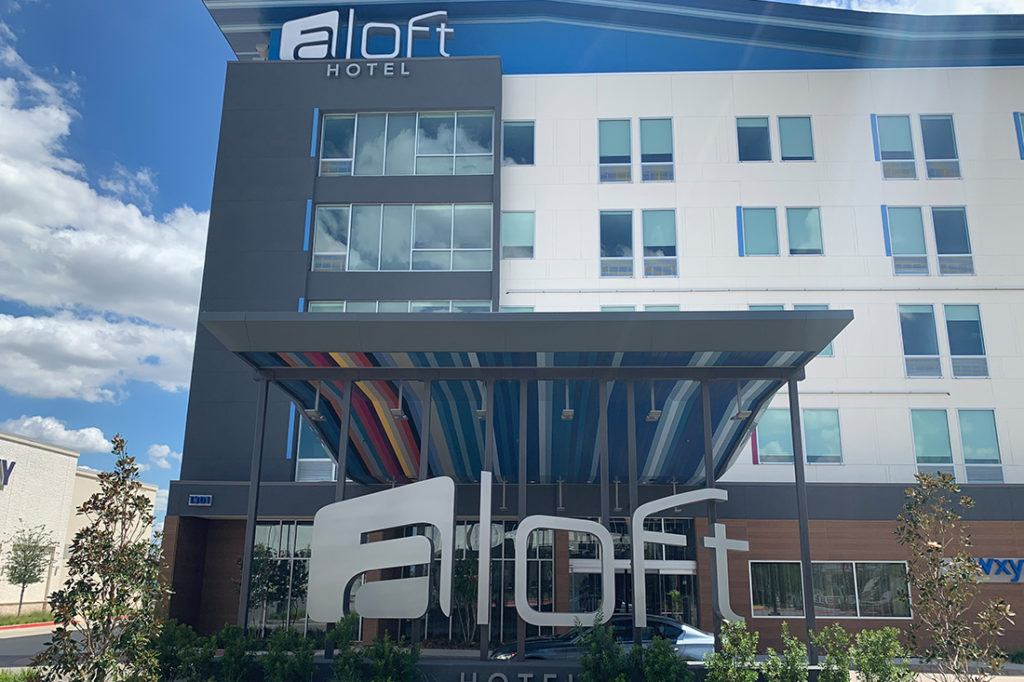 aloft channel letters