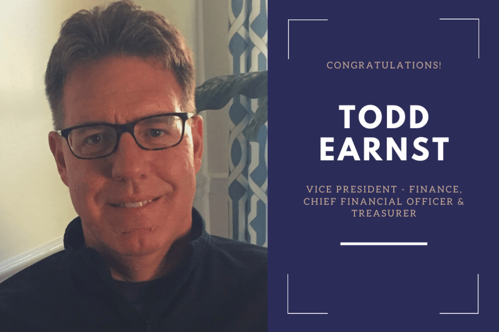 Todd Earnst has been appointed to the position of