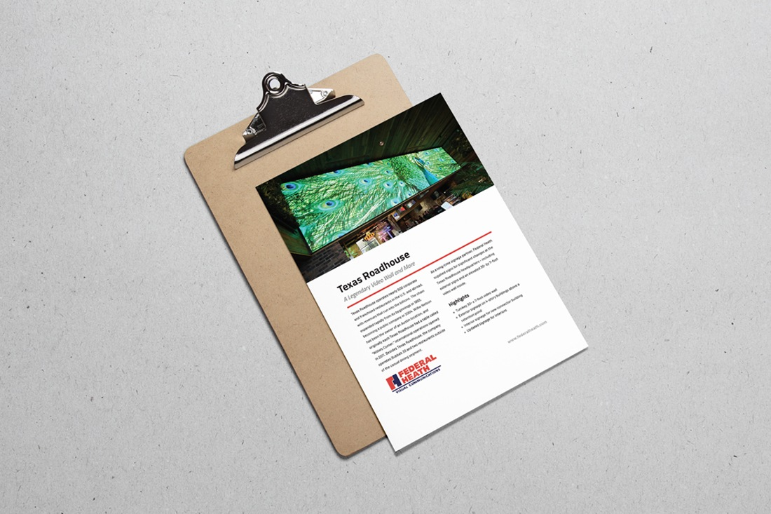texas roadhouse hq case study on clipboard