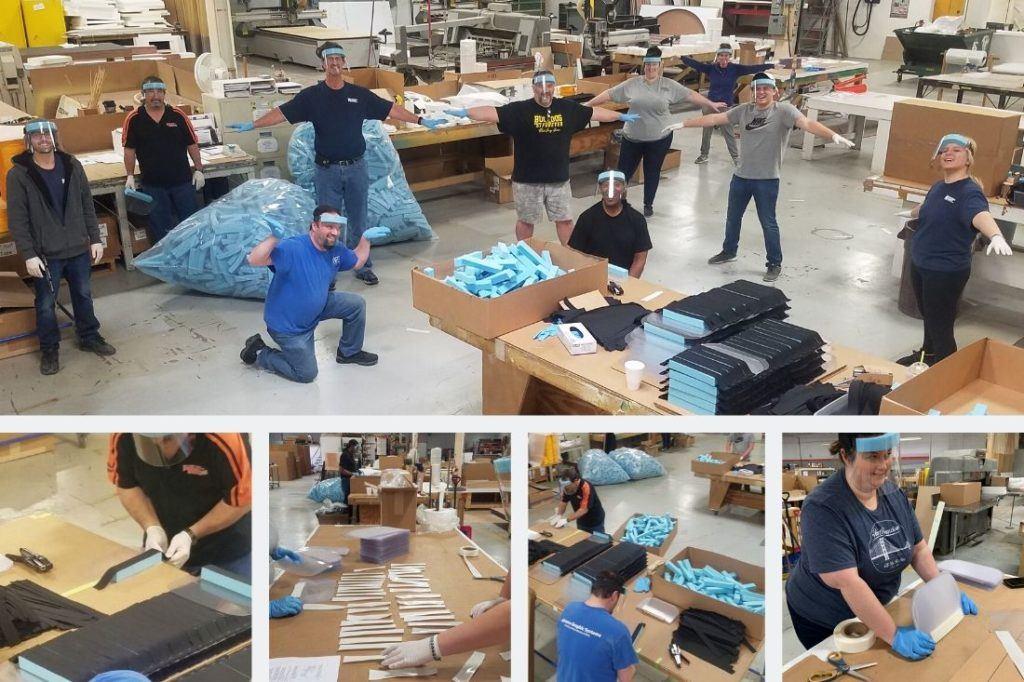 The Federal Heath team manufacturing PPE