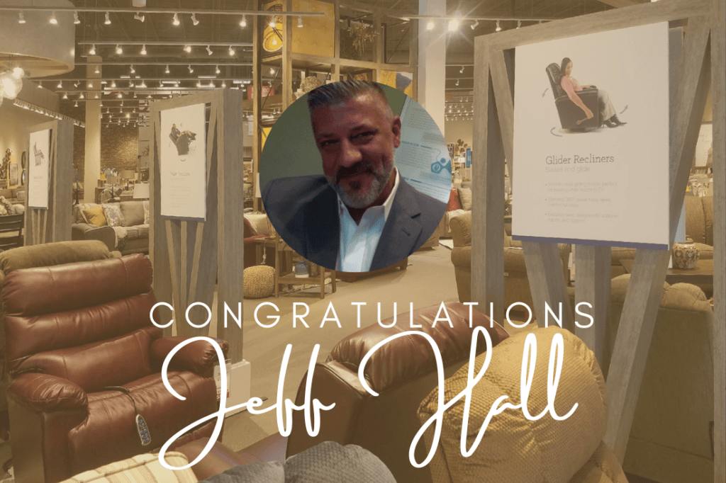 Congratulations Jeff Hall, new Sales Manager for Interior Graphics and Decor!