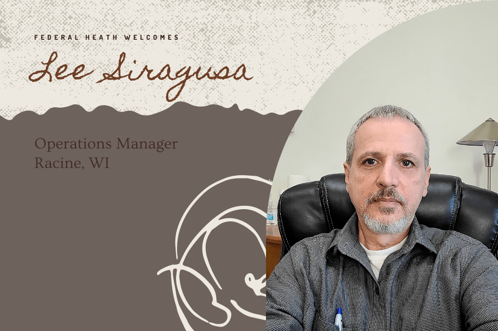 Lee Siragusa, new Operations Manager in Racine, WI.