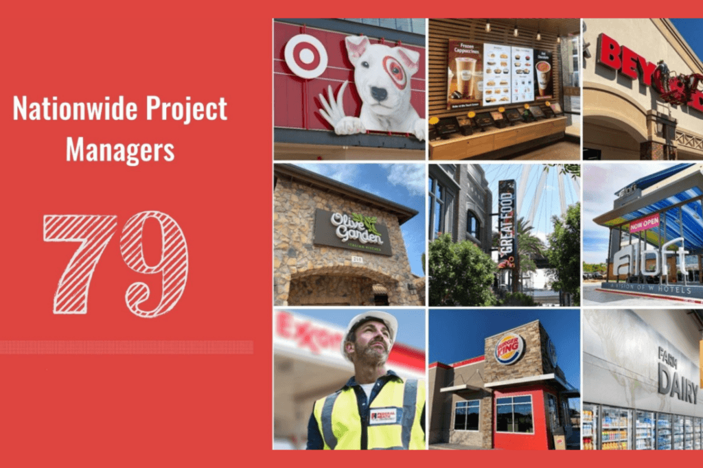 79 Project Managers strategically located across the country.